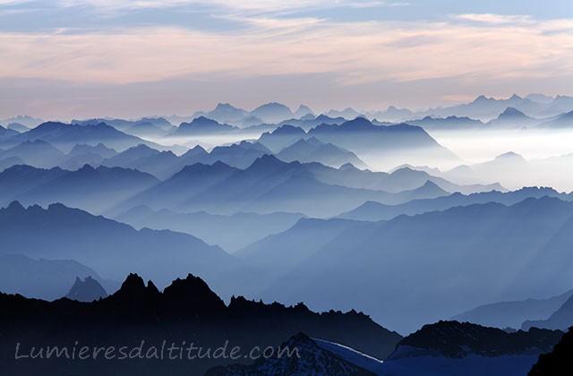 Bleue Glacier : Lumieres d altitude galeries graphique