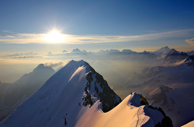 On the Morgenhorn-Blumisalp ridge, Oberland, Switzerland